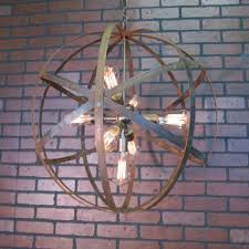 rustic chandelier wine barrel ring light orb ceiling light 24 s