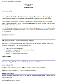 Sample Resume: Sle Resume For Gym Receptionist Gymnastics.