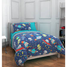 Bed sheets for twin beds Comforter Sets Walmart Mainstays Kids Outer Space Bed In Bag Bedding Set Walmartcom