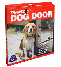 tran clear pet dog or cat door large
