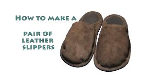 how to make a pair of leather slippers diy shoe making project 8 1 1of2