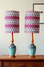 Patterned Lampshades Stunning 32 Fun NoSew Fabric Crafts Crafts Pinterest Lampshades