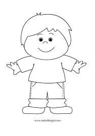Bambino Da Colorare E Stampare Fredrotgans