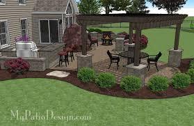 patio designs with pergola.  Pergola Pergola Covered Curvy Patio 22220 With Patio Designs I