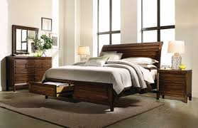 Lamps For Bedroom Dresser Aspenhome Walnut Park 4 Piece Storage Sleigh Bedroom Set W Lamp