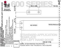 door closer installation. grade 1 door closers templates \u0026 installation instructions / commercial closer r