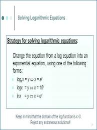 math worksheets logarithms reviews equations solving exponential
