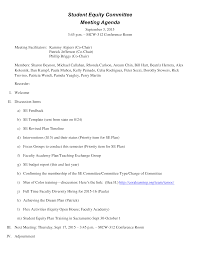 Agenda Sample Template Free Training Templates Format For Board