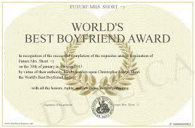 World S Best Boyfriend Award