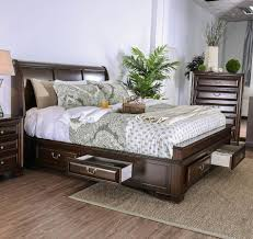 Furniture of America Brandt Brown Cherry King Bed - 1StopBedrooms.
