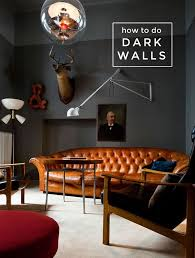 How to Achieve the Dark Wall Look | living room | Masculine interior ...