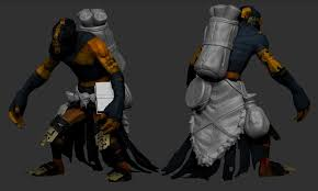 dota 2 shadow shaman belt thing high poly by pearington on