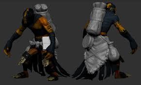 dota 2 shadow shaman belt thing high poly by pearington on