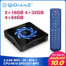 DQiDianZ Mini Smart TV Box 4K HDR Android 10 4GB 32GB - X96Q Max - Black -  JakartaNotebook.com