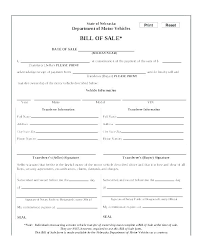 Standard Bill Of Sale For Boat Motor Vehicle Bill Of Sale Doc Free Template Printable Blank