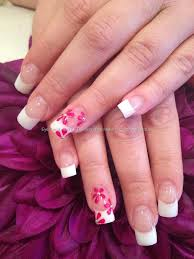 Eye Candy Nails & Training - White and clear acrylic nails with ...