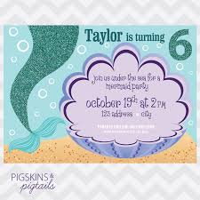 Birthday Invitation Party Mermaid Birthday Party Invitation