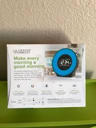 la crosse technology c83117 alarm clock with 7 color mood light
