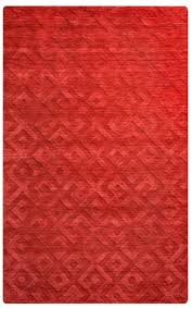 rizzy home new 100 wool technique cotton rectangular area rug 5 x 8 red solid