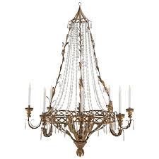 italian 18th century crystal and gilt metal eight light venetian chandelier for