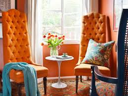 orange living room furniture. Vibrant Orange Sitting Room Living Furniture