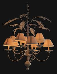 vintage palm tree frond leaf chandelier chairish