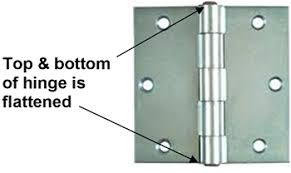 exterior door hinge pin removal. non-removable hinge pin exterior door removal renovation headquarters