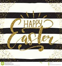 Sash Lettering Design Happy Easter Holiday Celebration Card With Hand Drawn
