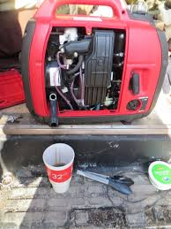 a little tlc for the honda eui generator van trekker changing oil can be messy there are commercial oil change adapters available for 15 20 that might help they th nicely into the dipstick hole and