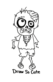 Draw So Cute Zombie Boy sketches archives holloway's hideaway on scribbles coloring book