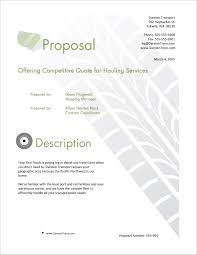 Design Quote Sample Transportation Shipping Services Sample Proposal 5 Steps