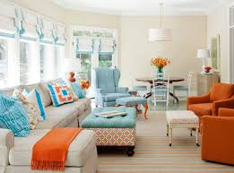 Orange And Blue Living Room Blue And Orange Living Room Ideas Yes Yes Go