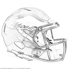 Grayscale Philadelphia Eagles Football Helmet Coloring Pages
