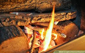 image titled light a fire in a fireplace step 15