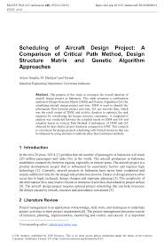 Design Structure Matrix Methods Pdf Scheduling Of Aircraft Design Project A Comparison Of
