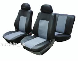 6pc universal full car seat covers set protectors grey black washable new in bag flexzon