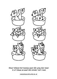 Kleurplaat Puppies Kittens Spelletjes