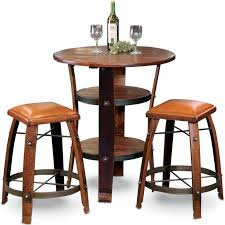 table 2 stools. order designs napa bistro table from uncork wine furniture. a best seller. four full stave legs with an ample rough sawn wood top and 2 display/storage stools t