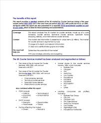 Free Courier Business Plan Template 8 Service Business Plan