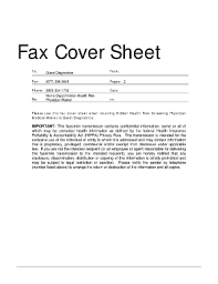 29 Printable Medical Fax Cover Sheet Forms And Templates