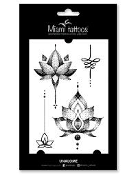 переводные тату Miami Tattoos Unalome