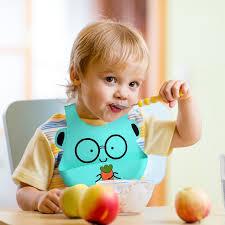 <b>Cute Baby</b> Waterproof Bib <b>Foldable Cartoon</b> Silicone Bib | Shopee ...