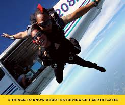 skydiving gift certficates