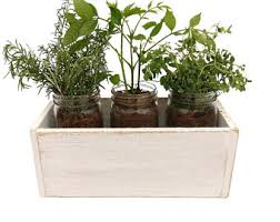 Shabby Chic Herb Planter Box - shabby chic herb box shabby chic herb garden  mason jar