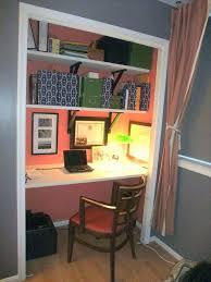 closet desk ideas beautiful with small office organizing home design computer diy wardrobe