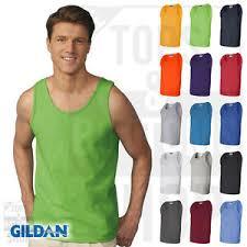 Gildan Ultra Cotton Tank Size Chart Details About Gildan Mens Ultra Cotton Tank Top Workout Fitness Shirt Gym S 3xl 2200