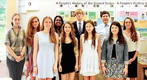 greenwich high school students earn essay awards front row from left annika bjerke university of connecticut martin luther king jr