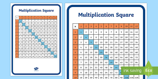 Free Multiplication Square 12 By 12 Ks1 Resource