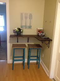 My New Diy Kitchen Bar Thicker Shelf With Wooden Brackets Use Wood