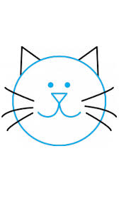 easy cat face drawing. Wonderful Cat How To Draw A Cat For Kids In Easy Face Drawing